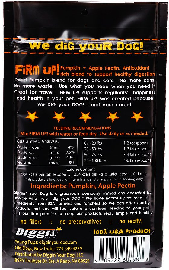 Firm Up! Pumpkin Supplement 4 oz. - Bancroft Pet Shop