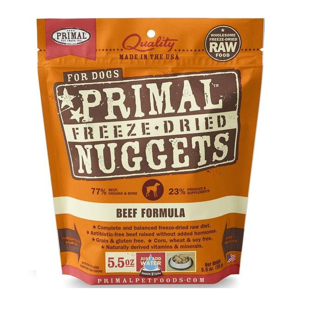 Freeze-dried Raw Beef Nuggets | Primal