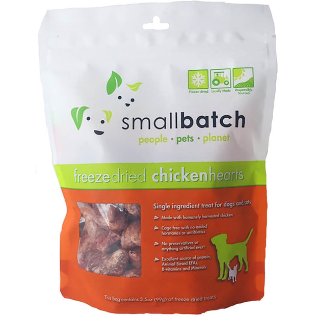Freeze-dried Raw Chicken Hearts 3.5 oz. - Bancroft Pet Shop