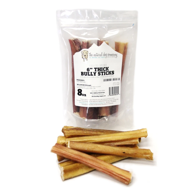 "6"" Thick Bully Stick Odor Free 8 oz"