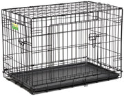 Double Door Folding Dog Crate | Midwest