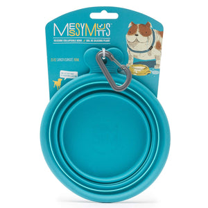 Blue Silicone Collapsible Bowl | Messy Mutts