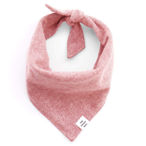 Heathered Cranberry Flannel Bandana | The Foggy Dog