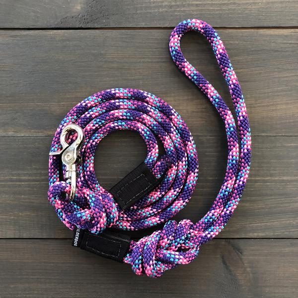 Rope Leash Razzleberry Reflective | Wilderdog