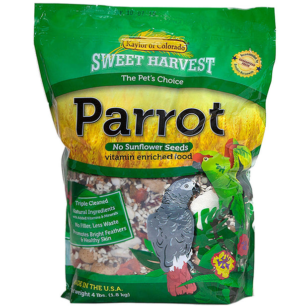 Sweet Harvest Parrot Food w/o Sunflower Seeds 2lb