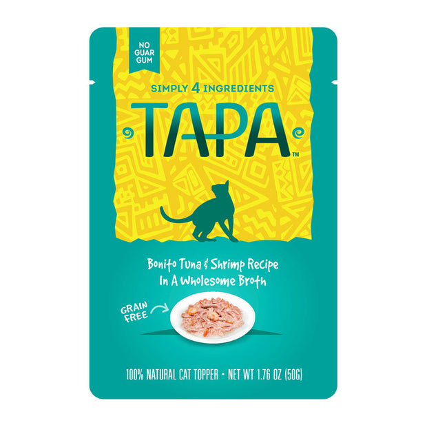 Tapa Bonito Tuna & Shrimp for Cats 1.76 oz | Rawz