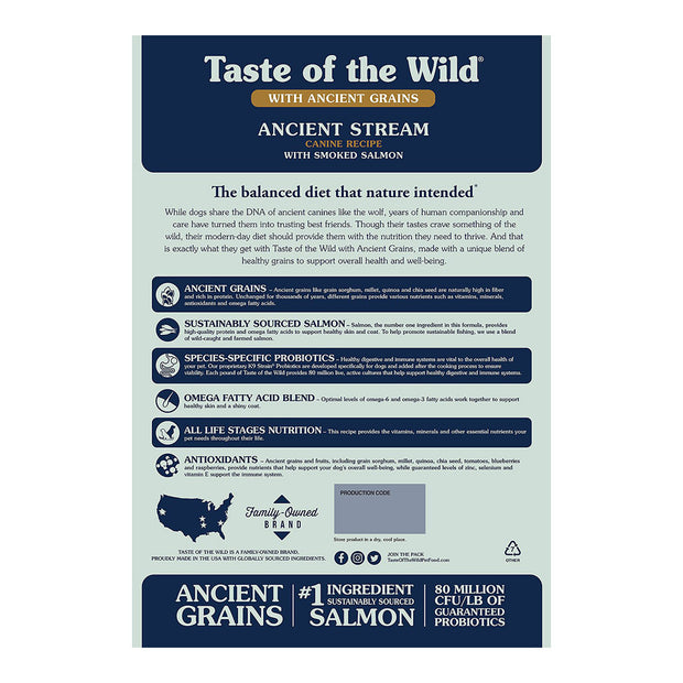 Ancient Stream with Smoked Salmon | Taste of the Wild