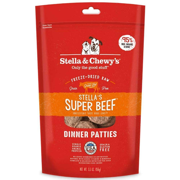 Freeze-dried Raw Dinner Patties Super Beef - Bancroft Pet Shop