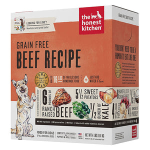 Grain-Free Beef Dehydrated Recipe for Dogs | The Honest Kitchen