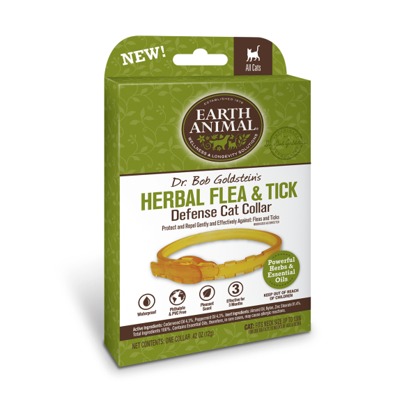 Herbal Flea & Tick Cat Collar | Earth Animal