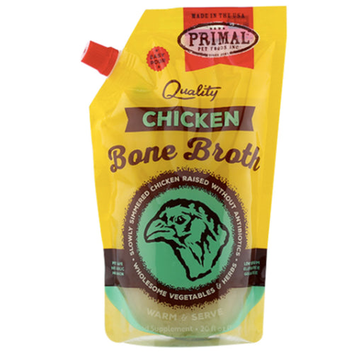 Frozen Chicken Bone Broth 20 oz | Primal