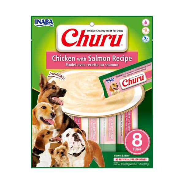 Chicken with Salmon Recipe Churu for Dogs 8 Pack