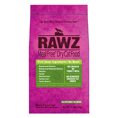 Chicken & Turkey Dry Cat Food 3.5 lb. | Rawz