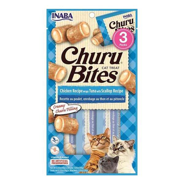 Churu Bites Chicken & Tuna with Scallop 3 Pack