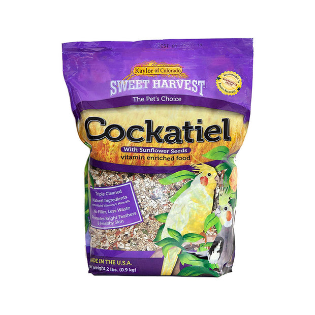 Sweet Harvest Cockatiel Food with Sunflower Seeds 2lb