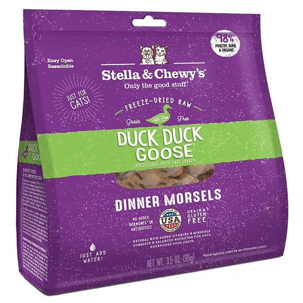 Duck Duck Goose Freeze-dried Dinner Morsels for Cats | Stella & Chewy's