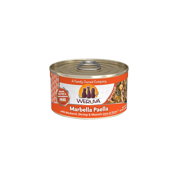 Marbella Paella with Mackerel, Shrimp & Mussels in Gravy for Cats 3oz