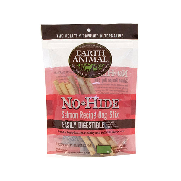 No-hide Salmon Stix 10 pack 1.6 oz | Earth Animal