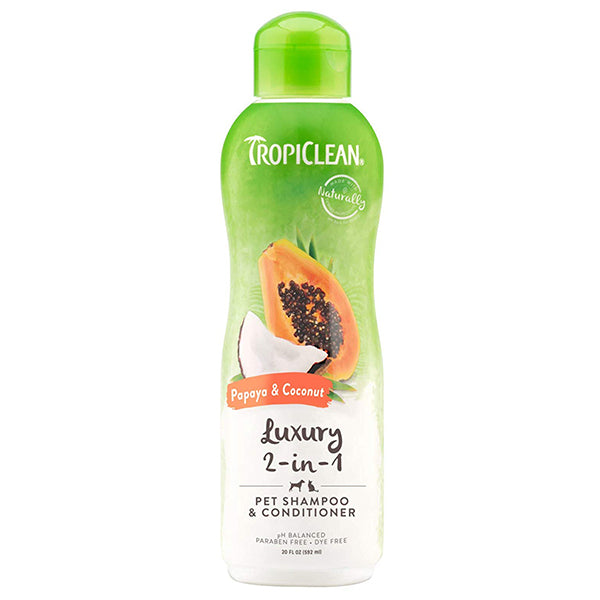 Luxury 2-in-1 Papaya & Coconut Shampoo 20oz. | TropiClean