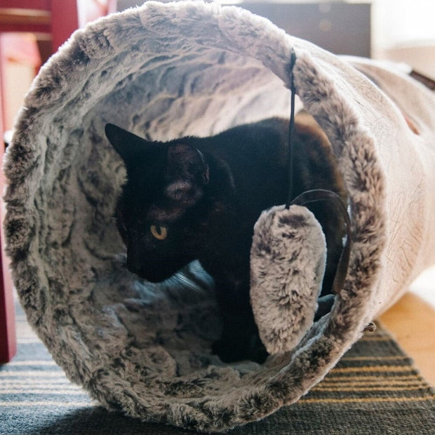 Purr & Pounce Cat Tunnel Ash Gray - Bancroft Pet Shop