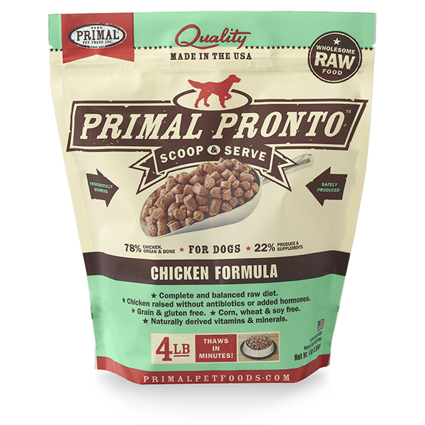 Chicken Pronto Frozen Raw for Dogs 4lb | Primal