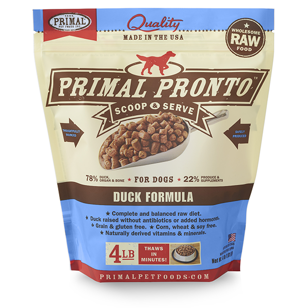 Duck Pronto Frozen Raw for Dogs 4lb | Primal