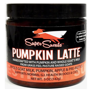 Pumpkin & Goat Milk Latte 5 oz. | Super Snouts