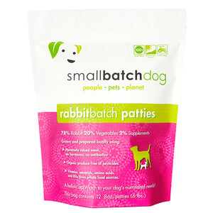 Rabbit Batch Frozen Raw for Dogs | Smallbatch
