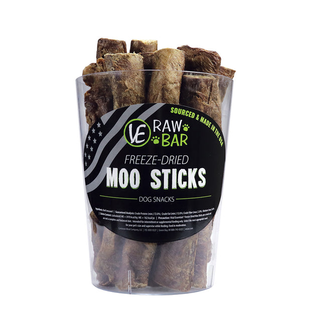 Raw Freeze-dried Moo Sticks dog treats Vital Essentials