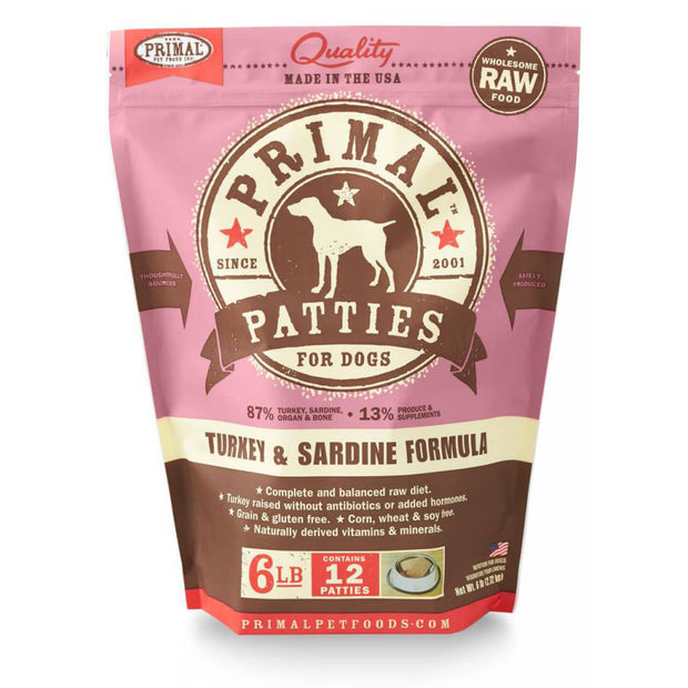 Turkey & Sardine Frozen Raw for Dogs | Primal