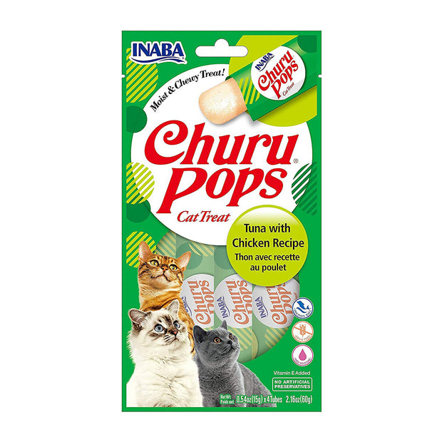 Churu Pops Tuna with Chicken 4 Pack | Inaba