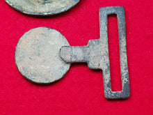 "EXCAVATED CONFEDERATE ""COIN STYLE"" 2-PIECE SWORD BELT PLATE"