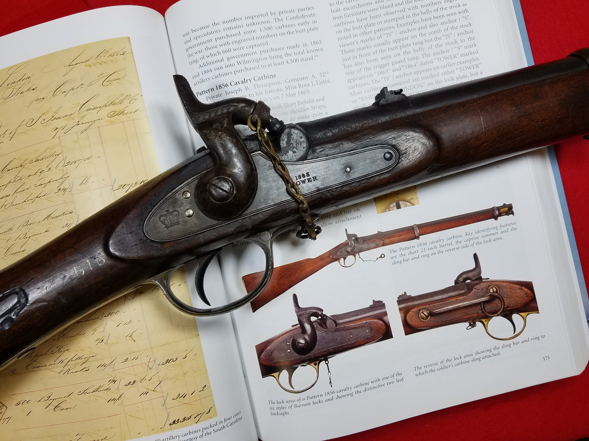 CONFEDERATE TOWER ENFIELD P56 CAVALRY CARBINE – 1st Alabama Cavalry