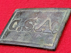 EXCAVATED CONFEDERATE CSA VIRGINIA STYLE BELT PLATE