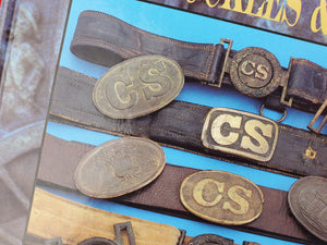 "EXCAVATED CONFEDERATE ""CS"" ROPE BORDER OVAL BUCKLE RECOVERED FROM DALTON, GA"
