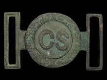 "EXCAVATED ""LEECH & RIGDON"" CONFEDERATE CS TWO-PIECE BUCKLE RECOVERED FROM PORT HUDSON, LA"