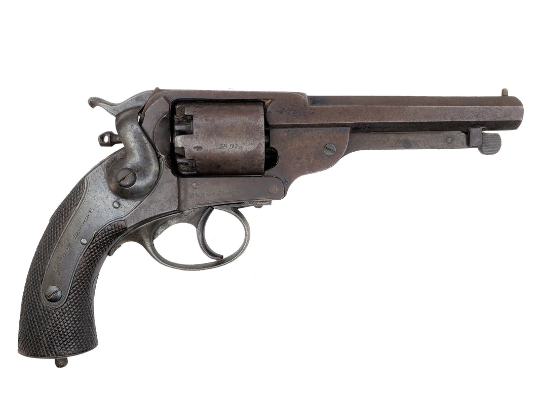 CONFEDERATE KERR REVOLVER WITH JS ANCHOR STAMP