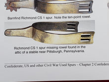 CONFEDERATE RICHMOND CAVALRY SPUR PUBLISHED IN CONFEDERATE, US AND OTHER CIVIL WAR SPURS