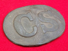 "EXCAVATED CONFEDERATE ""CS"" REGULATION BUCKLE"