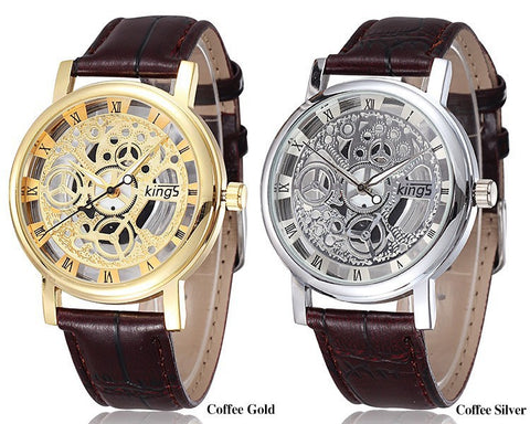Gold/Silver Retro Skeleton Luxury Men's Wrist Watch - 80% OFF TODAY ONLY!
