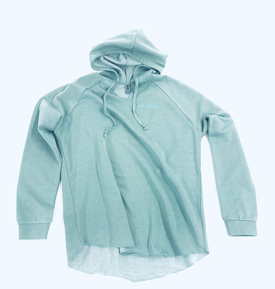 Womens Wave wash Scooped Hoodie*( Ships 6/11)