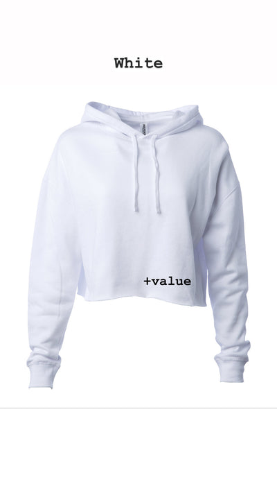Women's hooded crop(ships 5/11)