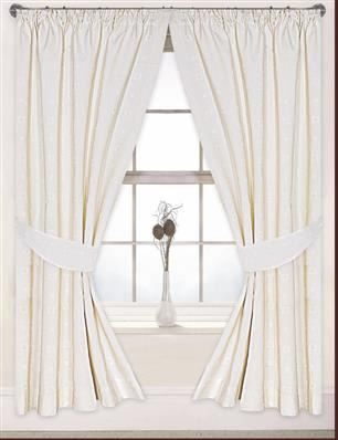 "Fully Lined 90"" x 90"" Jacquard Curtains 6 Pairs"