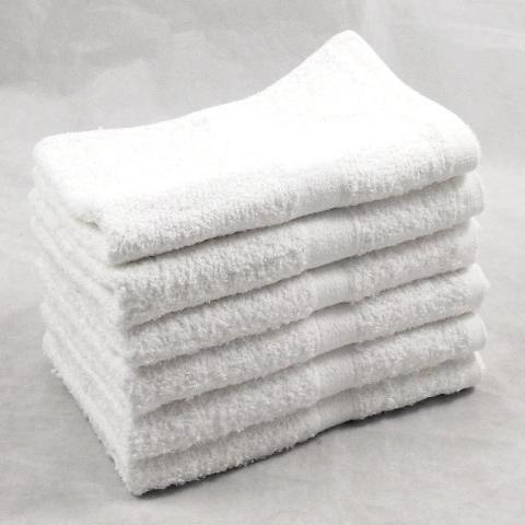320GSM 100% Cotton White Hand Towels 50 x 85cm Budget Range 96 PCs