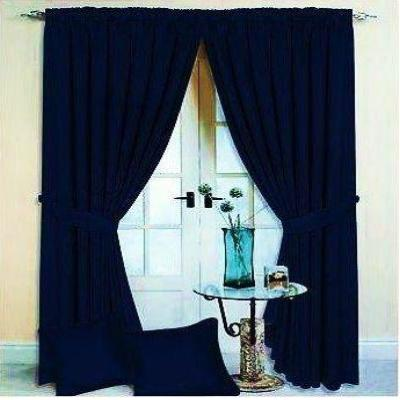 "Fully Lined 46"" x 90"" Jacquard Curtains 6 Pairs"