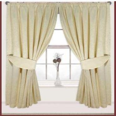 "90""x 90""Jacquard Fully Lined Taped Curtain (185Gsm) 6 PCs"