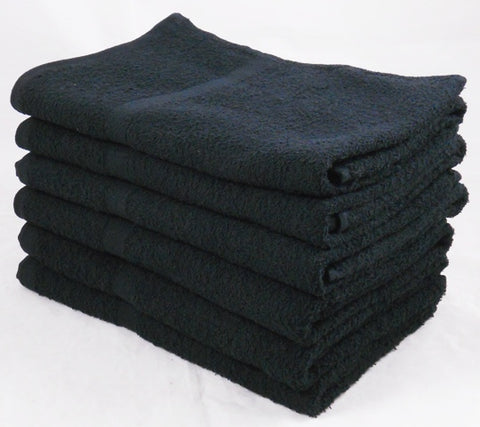 360GSM 100% Cotton Hand Towels 60Pcs Black and White