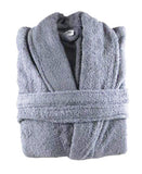 100% Cotton Terry Towelling Shawl Collar Bathrobes White & Grey 10 PCs