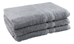Grey Bath Towels 100% Cotton 450gsm 48 Pcs