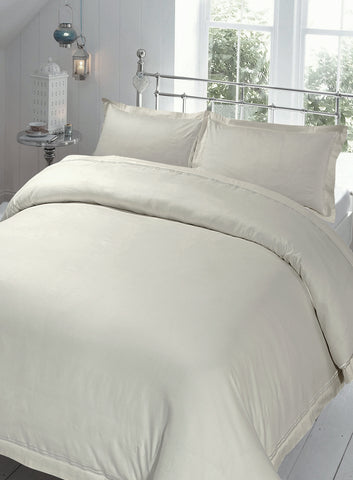 220 Thread Count 100% Cotton Sateen Baratta Stitch King Duvet Sets 8 PCs